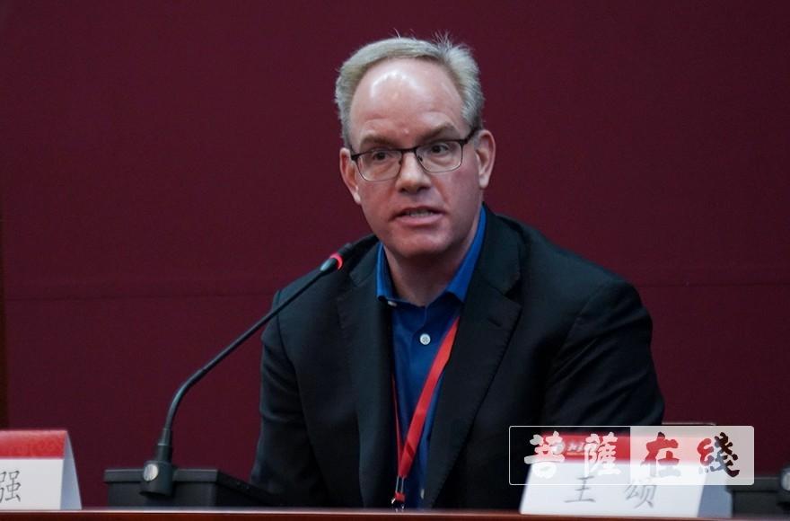 纪强教授:期待下一届国际天台学大会(图片来源:菩萨在线 摄影:张妙)