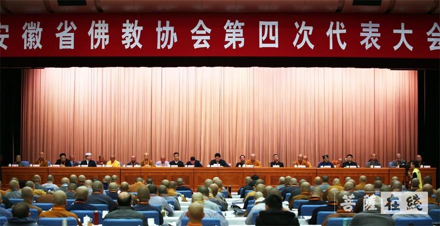 安徽省佛教协会第四次代表大会在合肥开幕