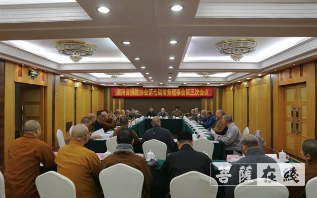 湖南佛教协会第七届常务理事会第三次会议在长沙召开