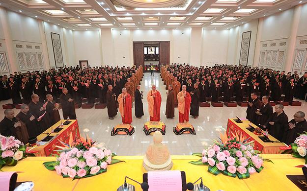 【高清圖集】普陀山佛教協會己亥年春傳授三皈五戒法會圓滿