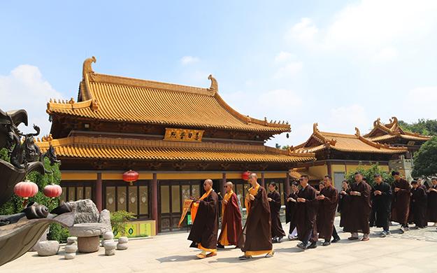庆观音菩萨成道 南京定林寺举行三皈依法会暨上供法会