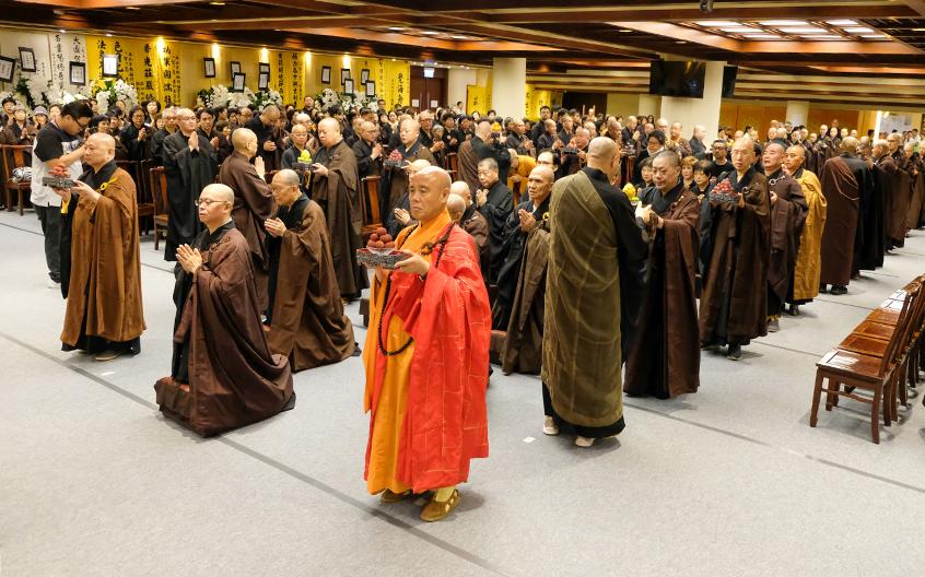 智慧长老示寂追思赞颂仪典于香港宝莲禅寺举行