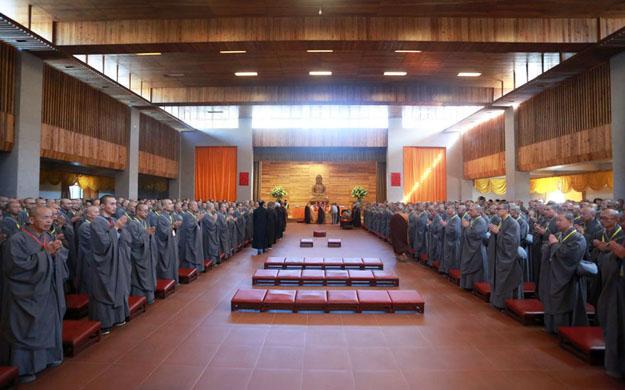 云居山真如禅寺三坛大戒法会第三日:教吃钵饭、考毗尼