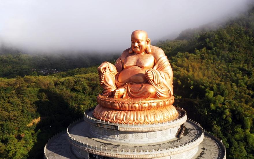 【高清图集】纪念雪窦山弥勒大佛落成开光11周年 资圣禅寺举行上供法会