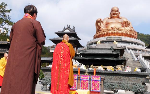 纪念雪窦山弥勒大佛落成开光11周年 资圣禅寺举行上供法会