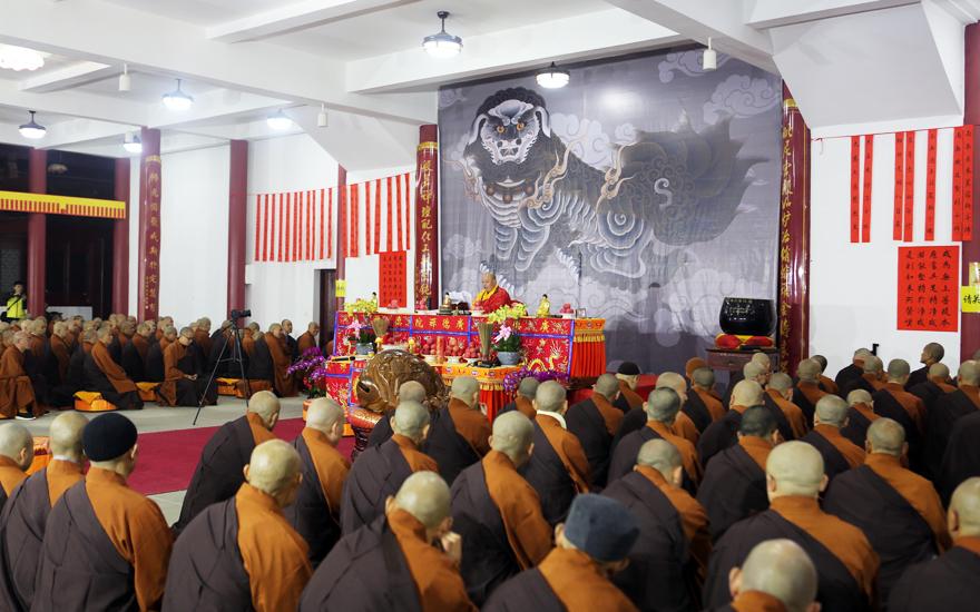 遂宁广德寺传授三坛大戒法会第二十八日