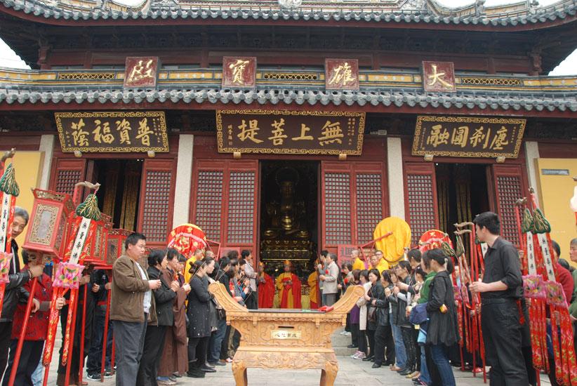 【高清图集】张家港香山寺举行水陆法会之送圣仪式