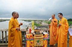 【高清图集】海安如来寺第三届南黄海紫菜法会举行祭海活动